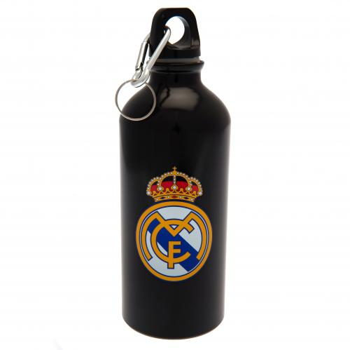Real Madrid Black Crest Drinks Bottle - 400ml