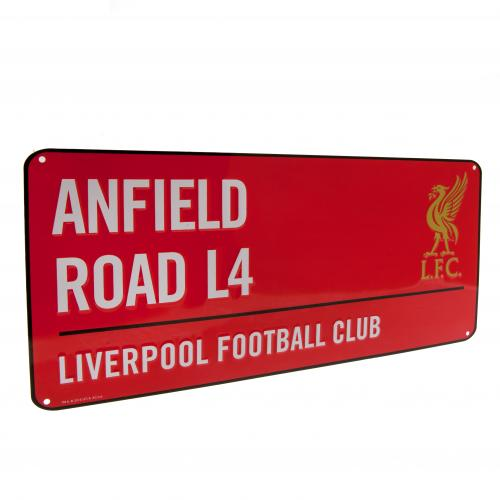 Liverpool FC Street Sign Red