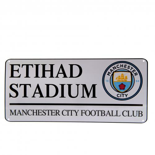 Manchester City FC  - Etihad Stadium Street Sign