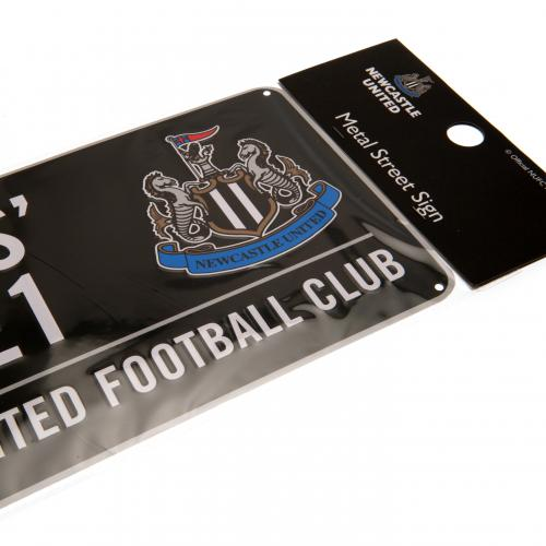 Newcastle United FC  - St James' Park Street Sign Black