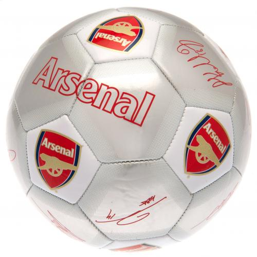 Arsenal FC  Silver Size 5 Ball With Team Signatures