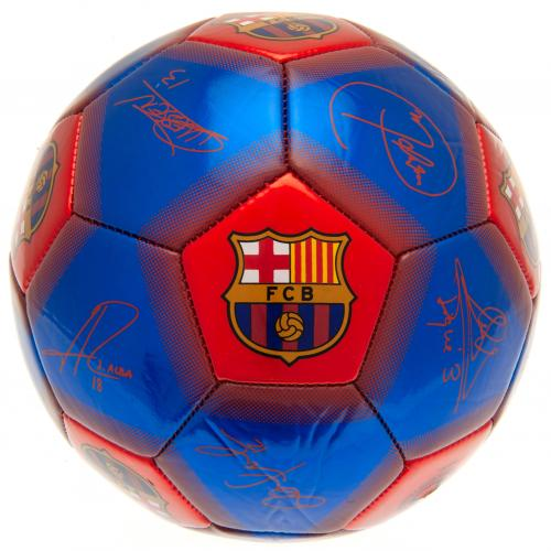 FC Barcelona Size 5 Ball With Team Signatures