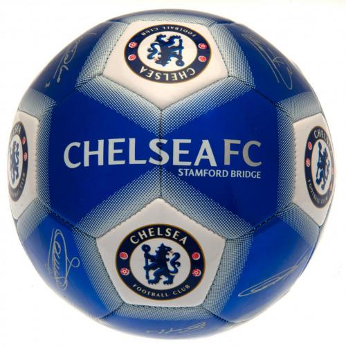 Chelsea FC  Size 5 Ball With Team Signatures