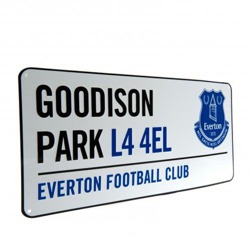 Everton FC  - Goodison Park Street Sign