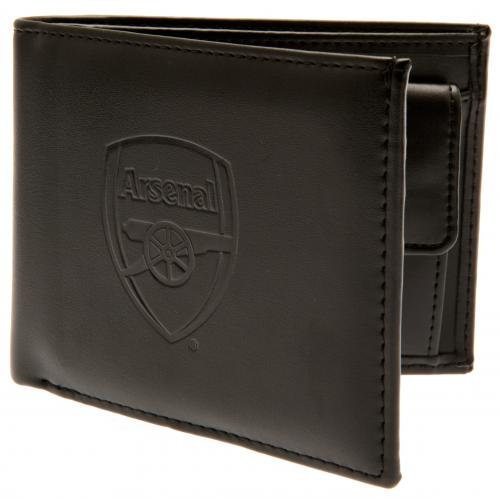 Arsenal FC - Debossed Crest Leather Wallet