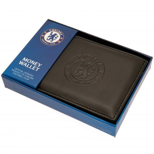 Chelsea FC - Debossed Crest Leather Wallet