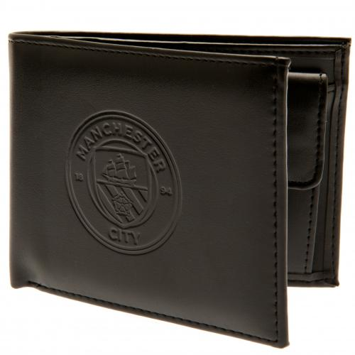 Manchester City FC - Debossed Leather Crest Wallet