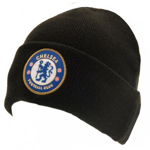 Chelsea FC Turn Up Black Knitted Hat