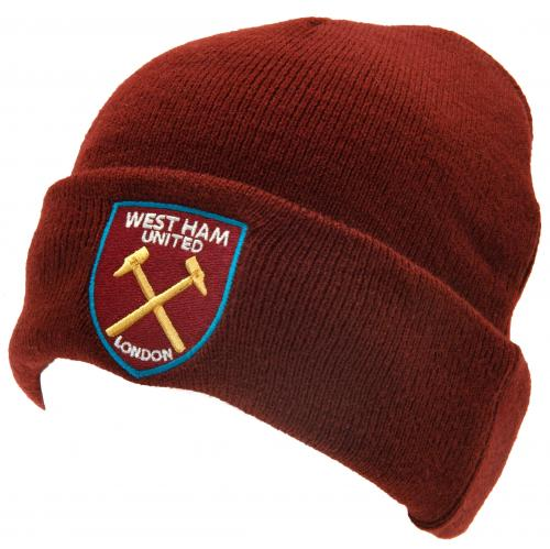 West Ham United FC Turn Up Knitted Hat