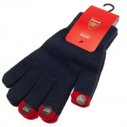 Arsenal FC Touchscreen Compatible Adult Knitted Gloves