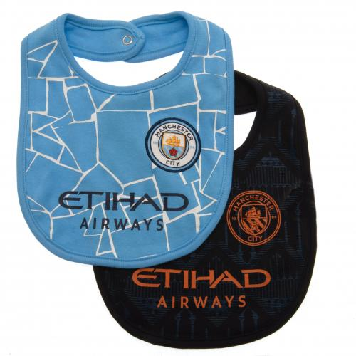 Manchester City FC Baby Bibs 2 pack