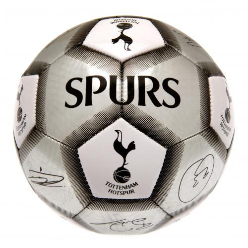 Tottenham Hotspur FC  - Silver Size 5 Ball With Team Signatures