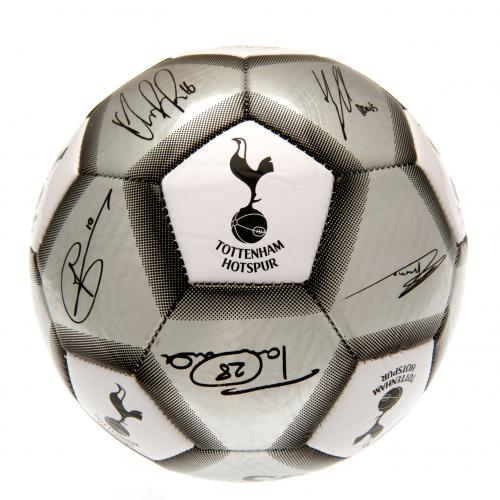 Tottenham Hotspur FC  Silver Size 5 Ball With Team Signatures