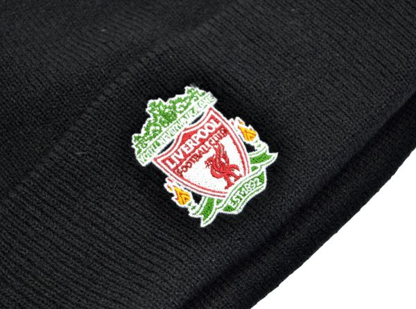 Liverpool FC  Classic Crest Black Turn Up Hat