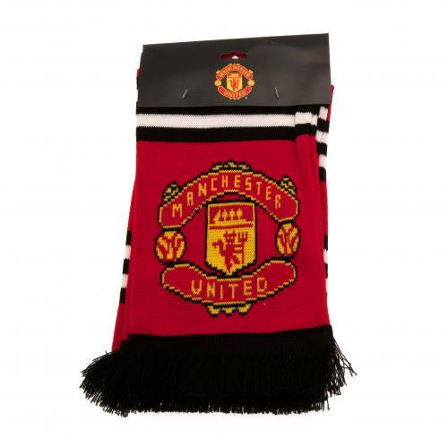 Manchester United FC Red Stripe Scarf - SPECIAL PRICE