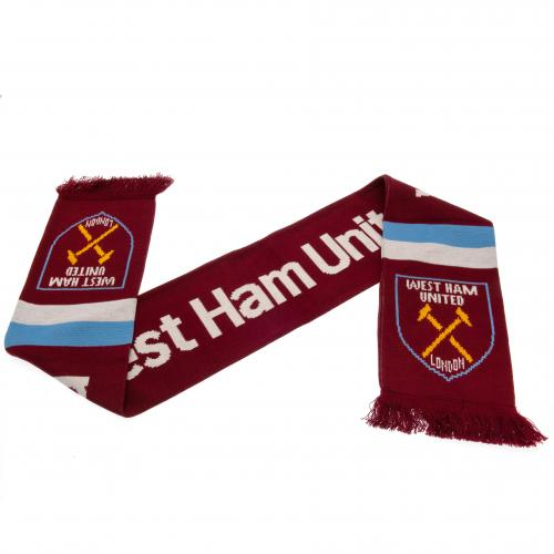 West Ham United FC Stripe Scarf