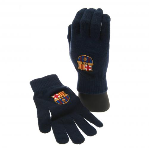 FC Barcelona - Adult Navy Knitted Gloves