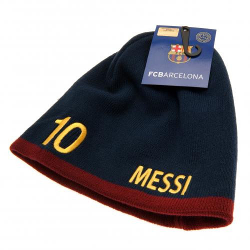 c63472dcff8 FC Barcelona - Messi 10 Knit Hat - EverythingEnglish