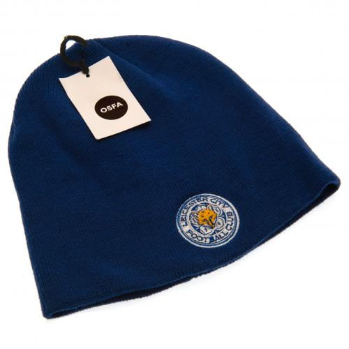 Leicester City FC Crest Beanie Hat