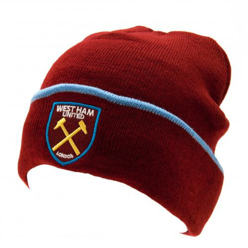 West Ham United FC - Knitted Turn Up Cuff Hat - EverythingEnglish 3ff50a7d593
