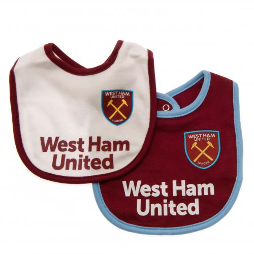West Ham United FC  - Baby Bibs Home and Away 2 pack