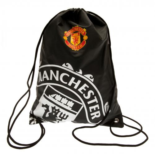 d67aa96c0 Manchester United FC - Black Crest Gear Bag - EverythingEnglish