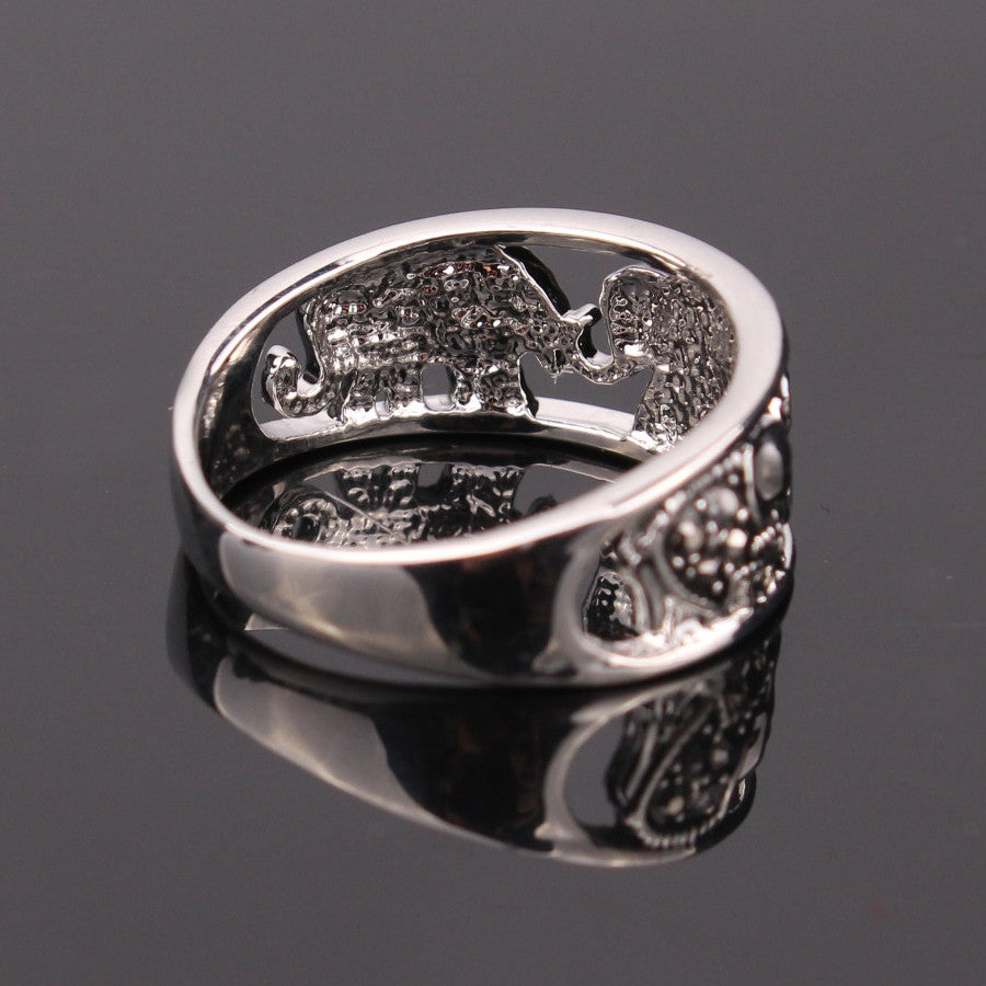 plated p ring polished rings silver sterling rhodium engagement elephant
