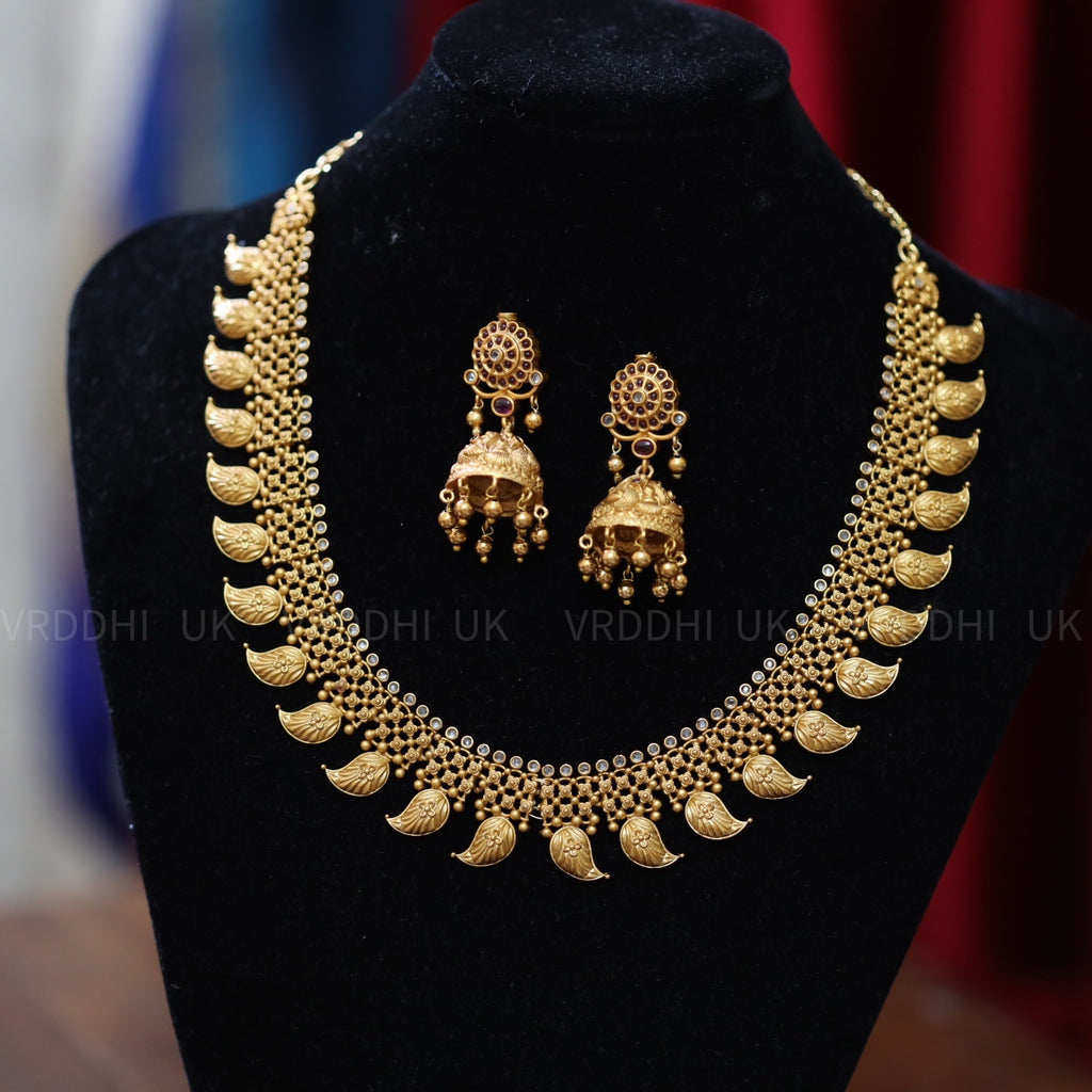 ANTIQUE TEMPLE NECKLACE & EARRING 1369