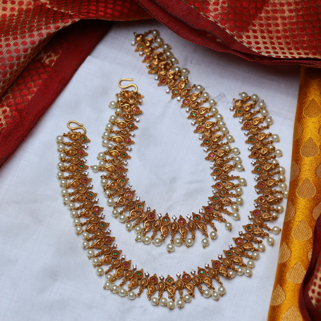 ANTIQUE TRADITIONAL ANKLETS / PAYAL 47 (STANDARD LENGTH)
