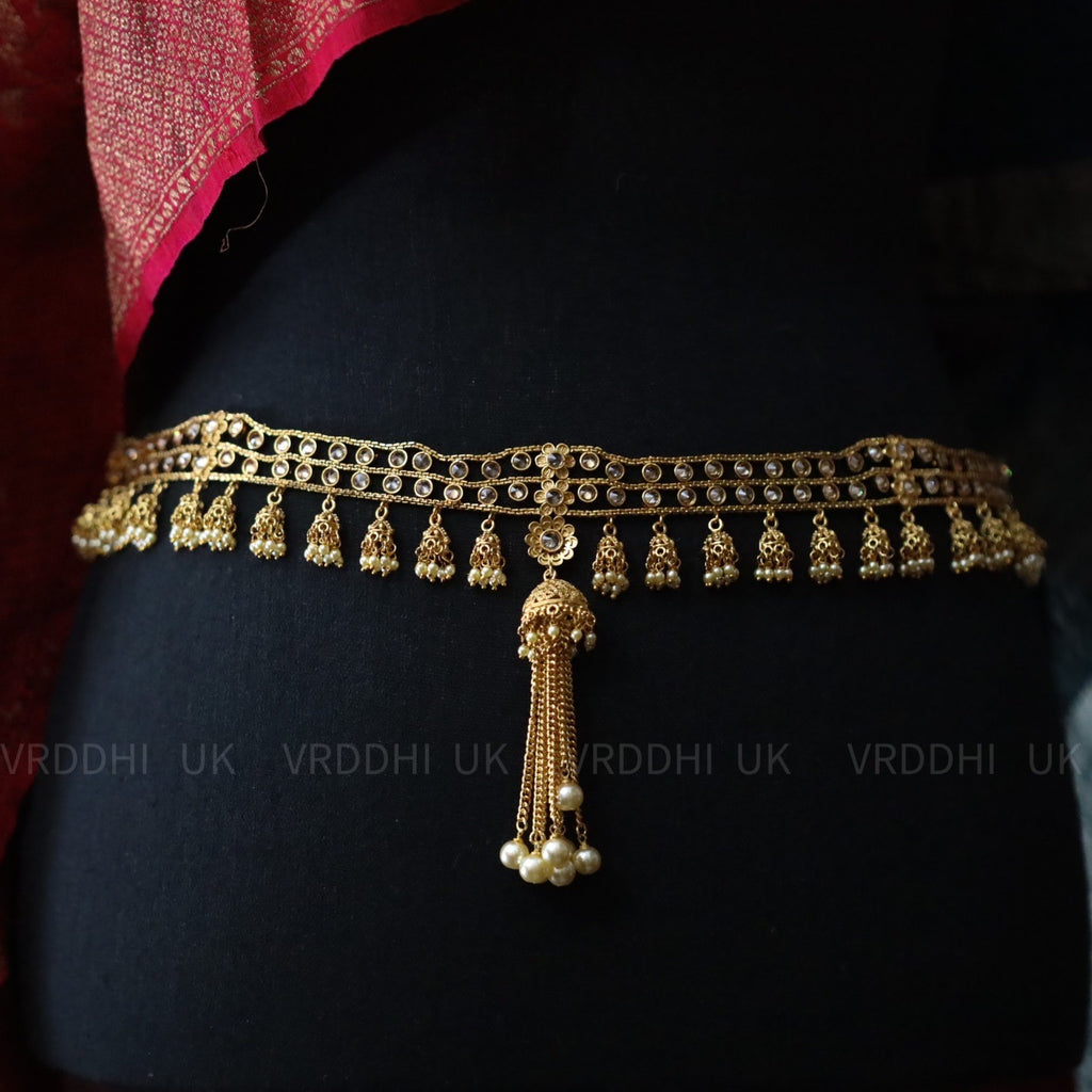 GOLD  STONE AND PEARL WAISTBELT / HIP BELT 65