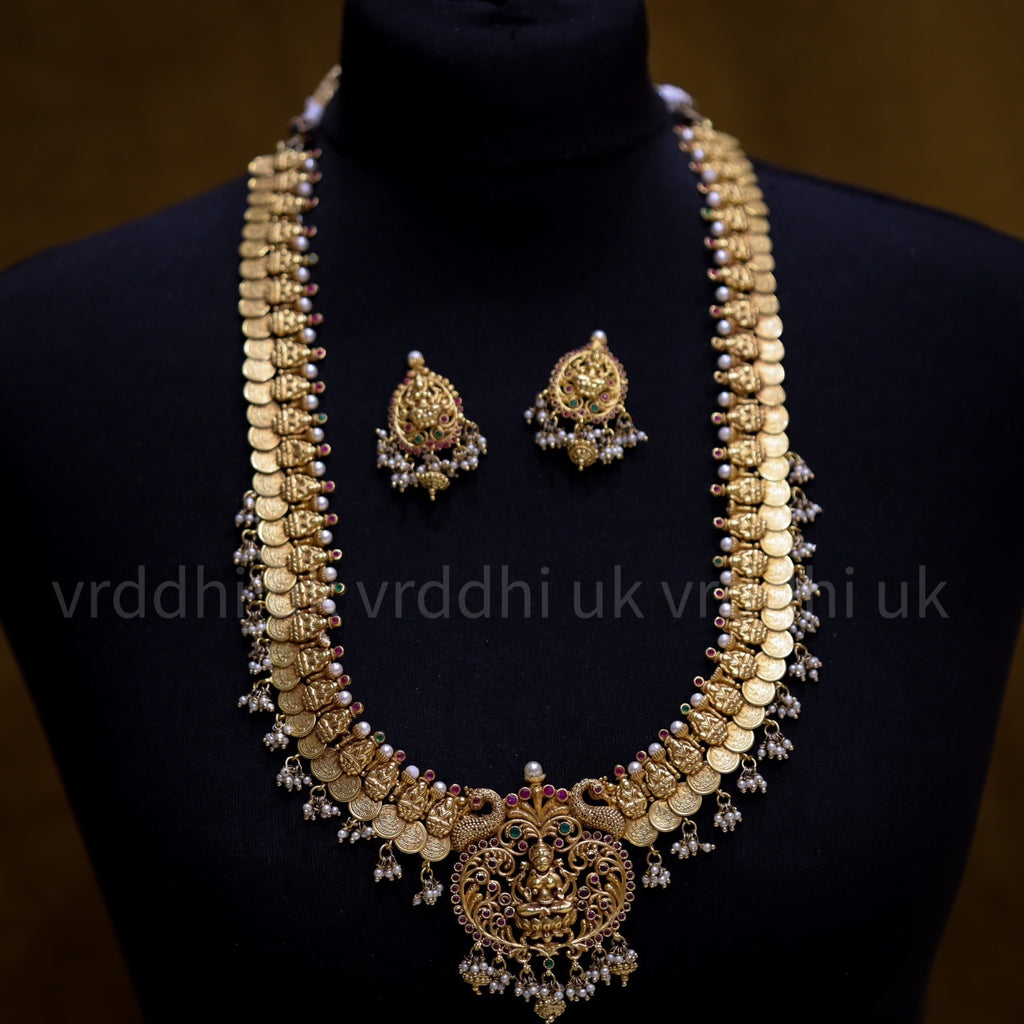ANTIQUE LONG NECKLACE  & EARRING  13477