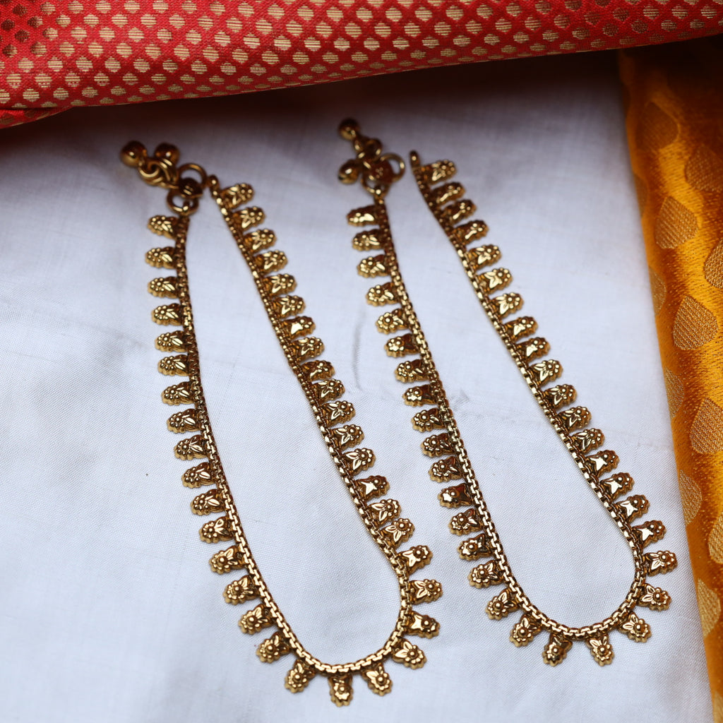 ANTIQUE TRADITIONAL ANKLETS / PAYAL 50 (STANDARD LENGTH)