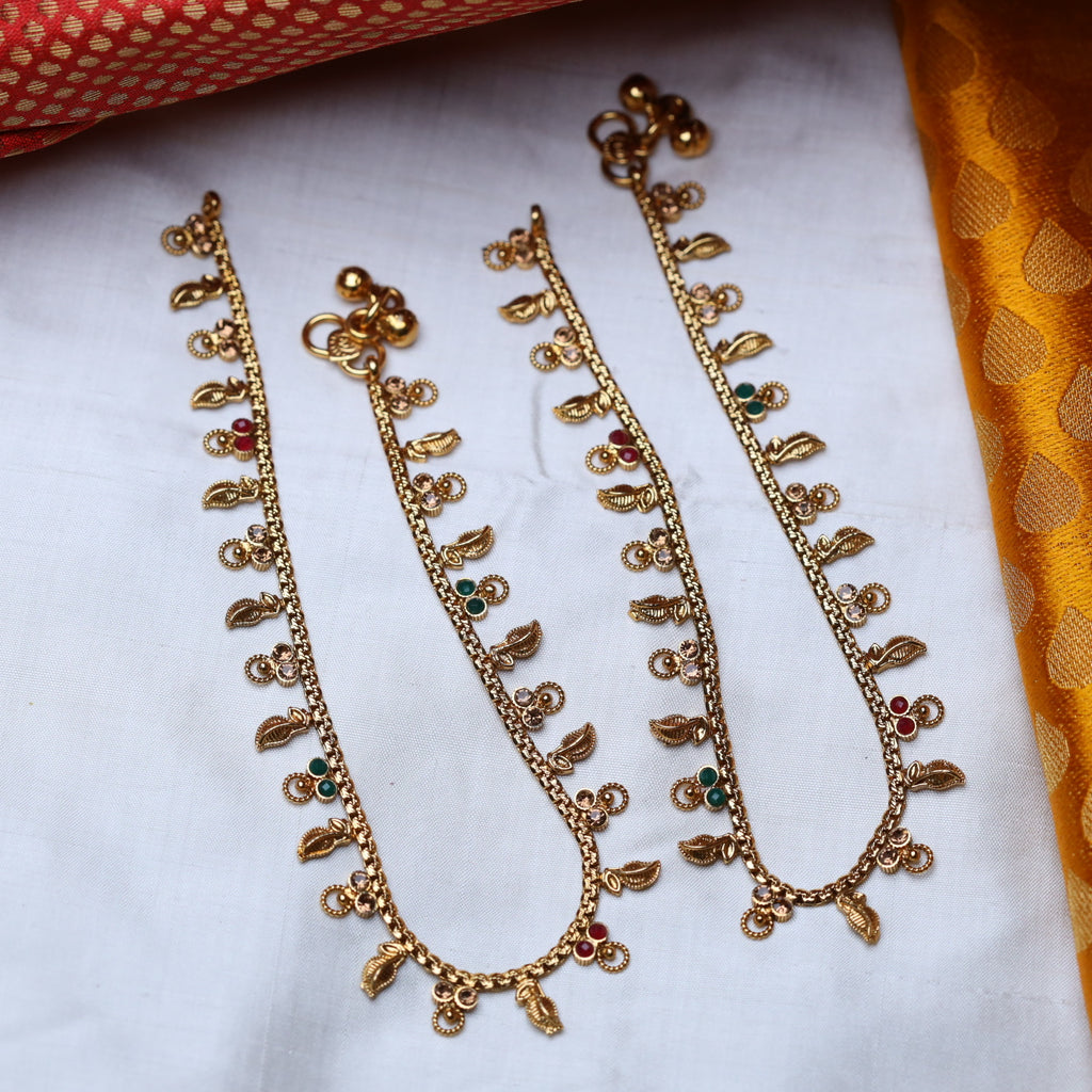 ANTIQUE TRADITIONAL ANKLETS / PAYAL 49 (STANDARD LENGTH)