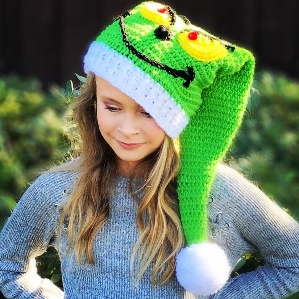 Deluxe Grinch Hat Crochet Pattern