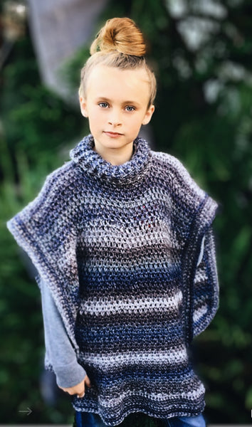 One size fits all crochet pattern poncho