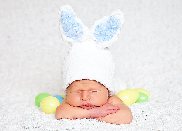 long loom pattern bunny hat diaper cover baby