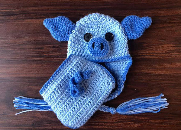 Piggy Hat Diaper Cover Crochet Pattern