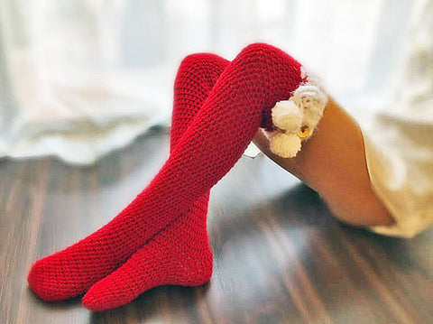 Oh Baby Christmas Thigh Highs Crochet Pattern