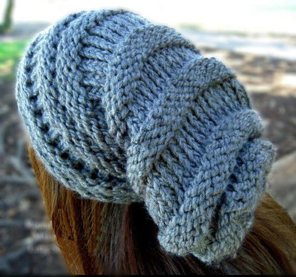 Long Slouchy Hat Knifty Knitter Loom Pattern