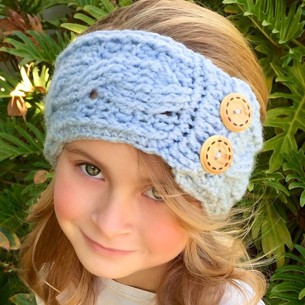cable head warmer crochet pattern