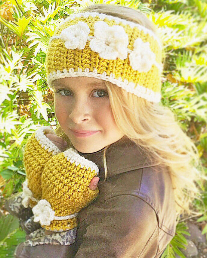 flower head warmer crochet pattern
