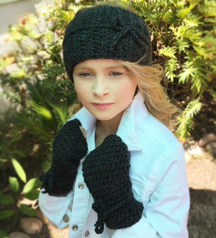 head warmer fingerless gloves crochet pattern