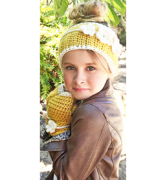 winter head warmer fingerless gloves crochet pattern