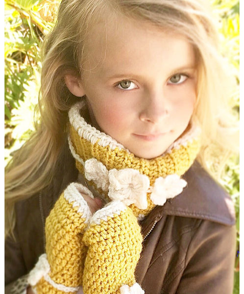 flower neck warmer crochet pattern