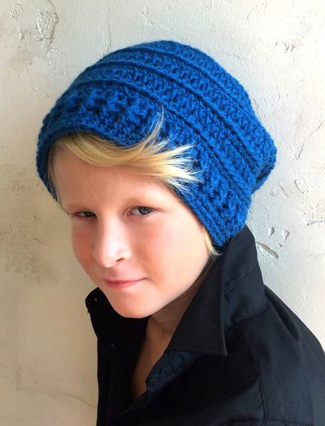 men's slouchy hat crochet pattern