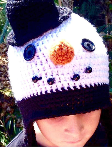 Snowman Hat Crochet Pattern - Noel The Snowman Hat