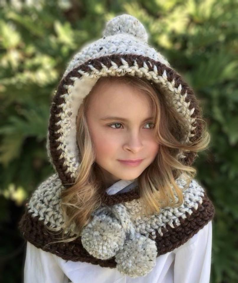 Hooded Cowl Crochet Pattern Penelope Hood Ava Girl Designs
