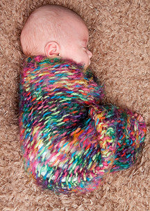 Newborn Hat Cocoon Knifty Knitter Pattern - Rainlyn Set