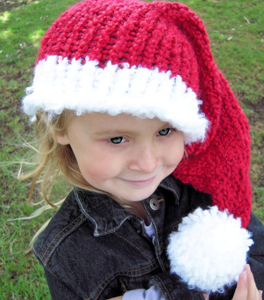 Child Santa Hat Knifty Knitter Loom Pattern