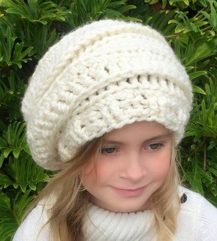 girls women hat crochet pattern
